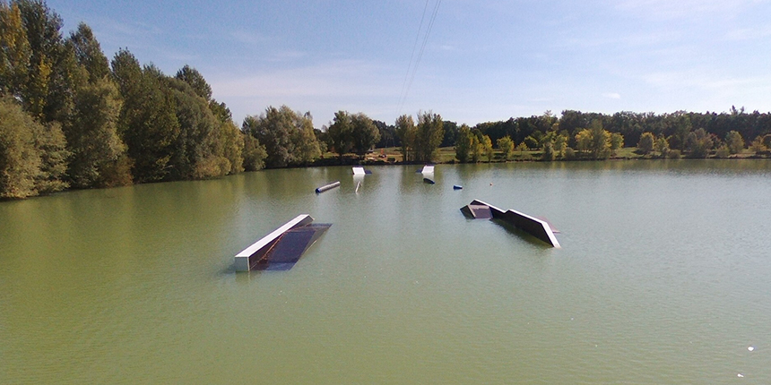 wake park, evasion cable park, le park et ses modules